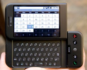 HTC Dream with an actual keyboard!