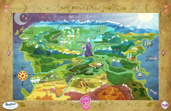 Map of Equestria