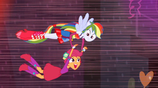 Rainbow Dash And Scootaloo Human